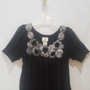 Ice Brand Dress Black Floral Sz 10